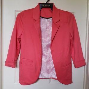 Jackets & Blazers - Coral Blazer Casual Sport Jacket Coat
